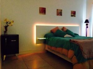 Tira de LED RGB 5050 - Aplicación en dormitorio