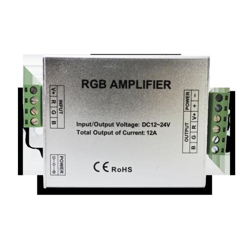 Amplificador RGB 4 amperes por canal - 12 amperes total